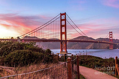 Photograph - Golden Gate Bridge Sunset by Kate Brown