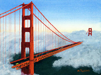 Golden Gate Bridge Sunset Art Print