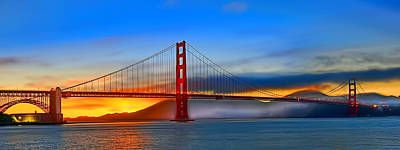 Photograph - Golden Gate Bridge Sunset by Steve Siri