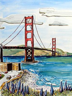 Golden Gate Bridge Art Print by Terry Banderas