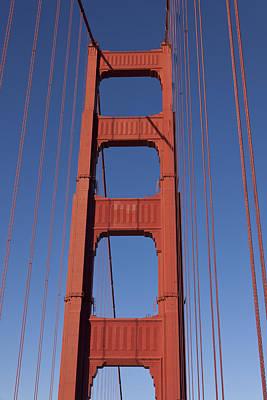 Golden Gate Bridge Tower Art Print by Garry Gay