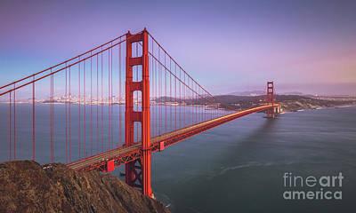 Photograph - Golden Gate Bridge Twilight by JR Photography