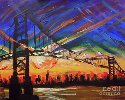 Outer Rim Painting - Golden Gate Bridge by Vanessa Hadady BFA