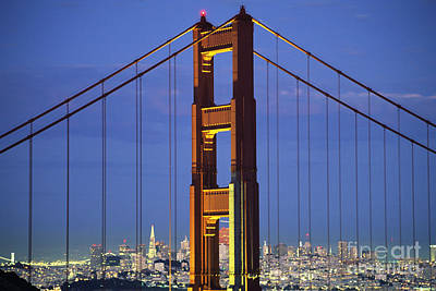 Photograph - Golden Gate Bridge by William Waterfall - Printscapes