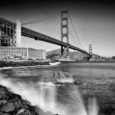 Golden Gate Bridge With Breakers Art Print