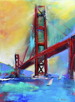 Golden Gate Colors Art Print