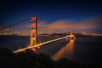 Golden Gate Art Print by Edgars Erglis
