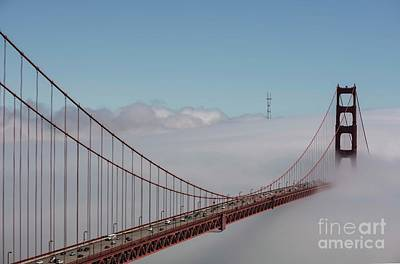 Photograph - Golden Gate Fogged - 2 by David Bearden
