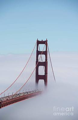 Photograph - Golden Gate Fogged - 3 by David Bearden