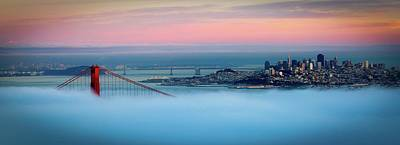 Built Structure Photograph - Golden Gate Foggy At Morning by Mark Brodkin Photography