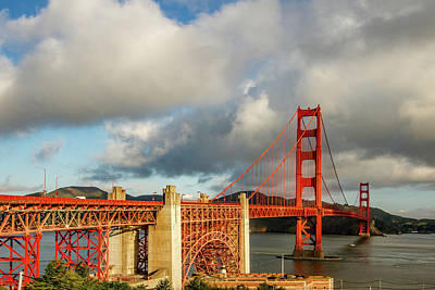 Art Print featuring the photograph Golden Gate From Above Ft. Point by Bill Gallagher
