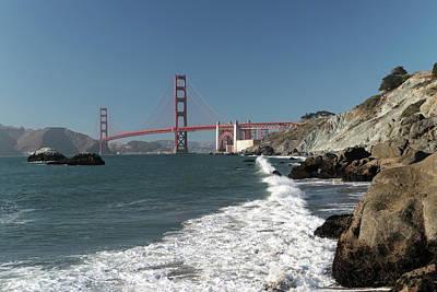Photograph - Golden Gate From Baker Beach by Harold Rau