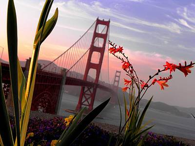 Photograph - Golden Gate Garden View by Elizabeth Hoskinson