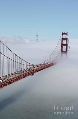 Photograph - Golden Gate In Fog by David Bearden