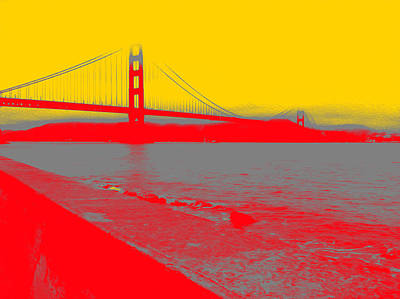 Photograph - Golden Gate In Red by Bill Owen