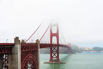 Photograph - Golden Gate In The Fog by Daniel Murphy
