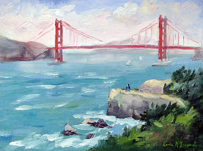 Iconic Painting - Golden Gate by Karin  Leonard