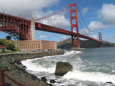 Photograph - Golden Gate by Kim Pascu