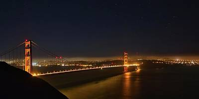 Photograph - Golden Gate Night Panorama by Harold Rau
