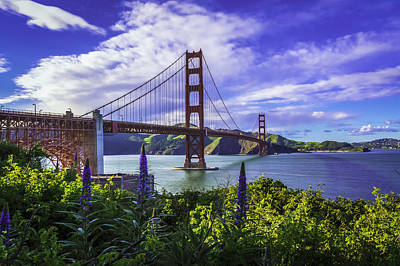 Tour Bus San Francisco Photograph - Golden Gate Of Spring by Phil Fitzgerald