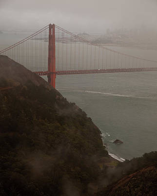 Golden Gate On A Grey Day Art Print by Patrick  Flynn