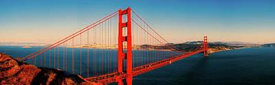 Photograph - Golden Gate Panorama by Jakub Hruska