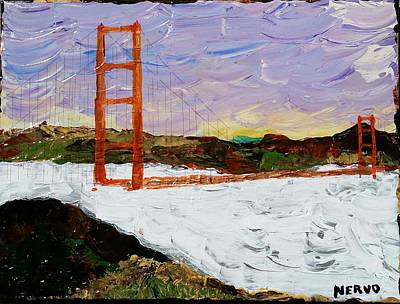 Sanfrancisco Painting - Golden Gate  by Peter Nervo