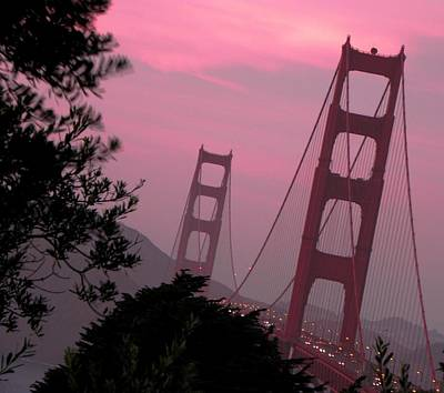 Photograph - Golden Gate Pink Moment by Elizabeth Hoskinson