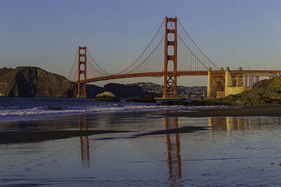 Photograph - Golden Gate Reflection by Garry Gay