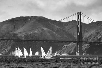 Golden Gate Seascape Art Print
