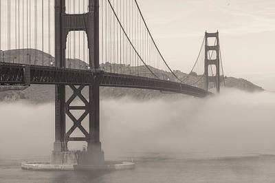 Photograph - Golden Gate Sepia by Jonathan Nguyen