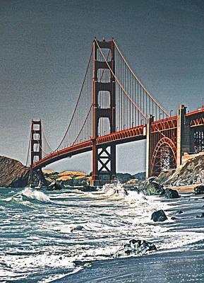 Golden Gate Surf Art Print by Dennis Cox WorldViews