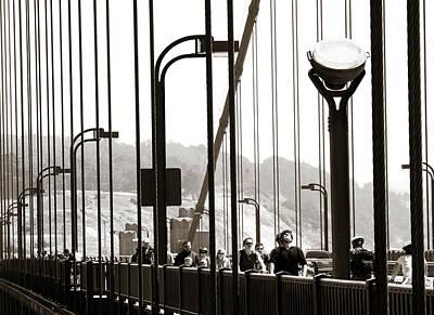 Pucker Up - Golden Gate Suspension by Marilyn Hunt