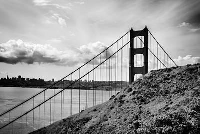 Photograph - Golden Gate Tower B-w by John McArthur