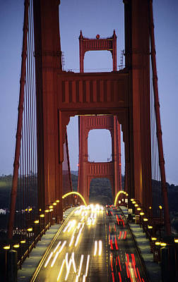 Photograph - Golden Gate Traffic by Michael Howell - Printscapes