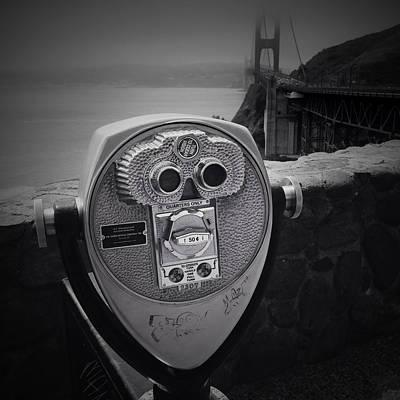 Binoculars Photograph - Golden Gate Viewer by Les Cunliffe