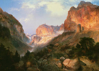 National Park Painting - Golden Gate Yellowstone National Park by Thomas Moran