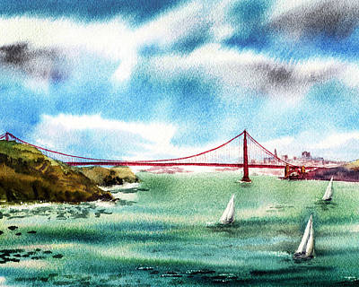 Painting - Golden Gates Of San Francisco by Irina Sztukowski