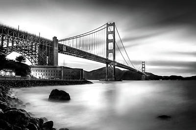 Photograph - Golden Gateway Bw by Az Jackson