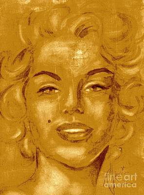 Iconic Painting - Golden Girl Memories by P J Lewis