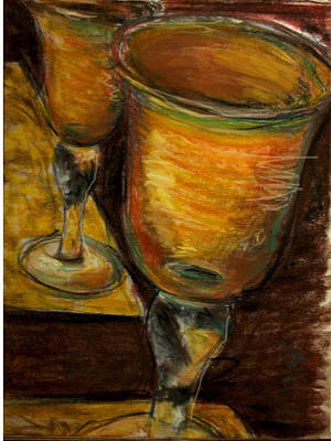 Painting - Golden Glasses by Susan Jenkins