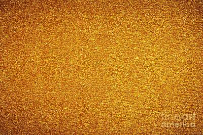 Surface Photograph - Golden Glitter Background. Christmas, New Year, Party Theme by Michal Bednarek