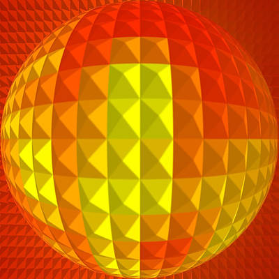 Gaia Digital Art - Golden-globe by Ramon Labusch
