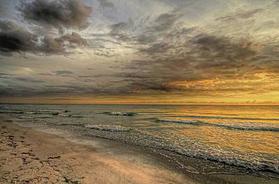 Photograph - Golden Glow 2 - Clouds by HH Photography of Florida