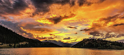 Photograph - Golden Glow At Summit Cove Pano by Stephen Johnson