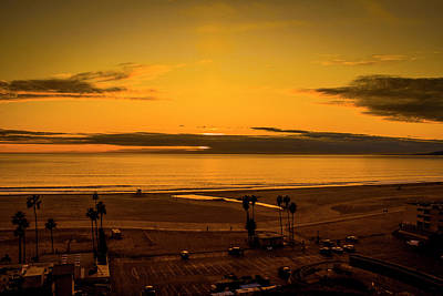 Point Dume Wall Art - Photograph - Golden Glow by Gene Parks