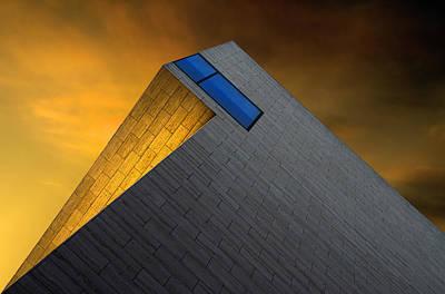 Diagonal Photograph - Golden Glow by Gilbert Claes