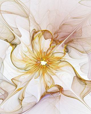 Fractal Digital Art - Golden Glow by Amanda Moore