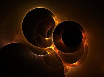 Digital Art - Golden Glow by Nancy Pauling