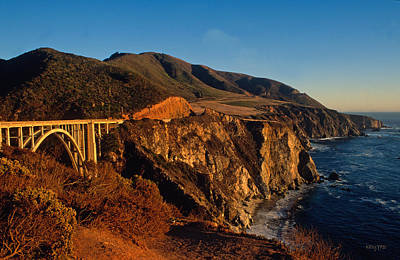 Kathy Yates Photograph - Golden Glow On Big Sur 2 by Kathy Yates